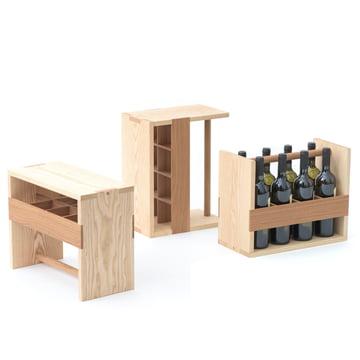 Auerberg - Bottle-Box, Esche / Eiche