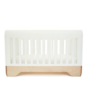 Babybett Echo Crib von Kalon aus Ahorn in Weiß