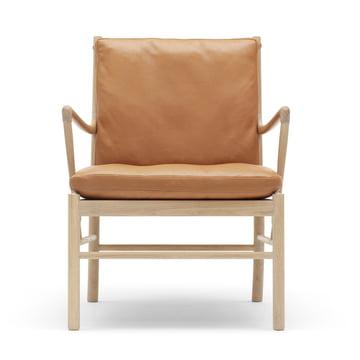 OW149 Colonial Chair von Carl Hansen aus Eiche geseift und Leder