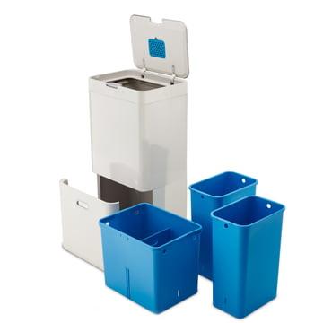 Recycling-Fach mit zwei herausnehmbaren Eimern und ein Mehrzweckfach