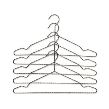 Das Hay - Twisted Kleiderbügel 5er-Set in anthrazit