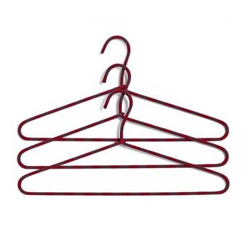 Das Hay - Cord Kleiderbügel 3er-Set gestreift in burgund