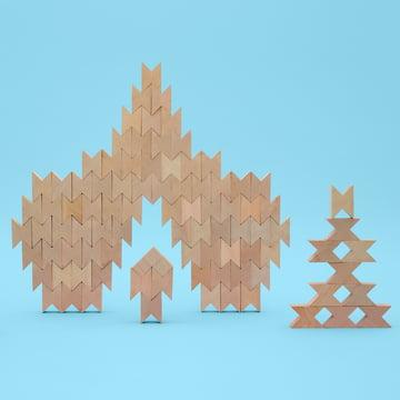 Die Hay - Twins Holzklötze in Buche
