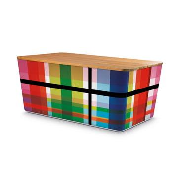 Brotbox Zigzag mit Bambusdeckel von Remember