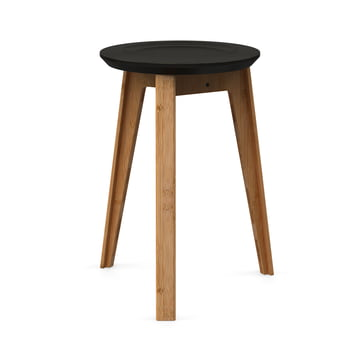 Button Stool von We Do Wood in Schwarz