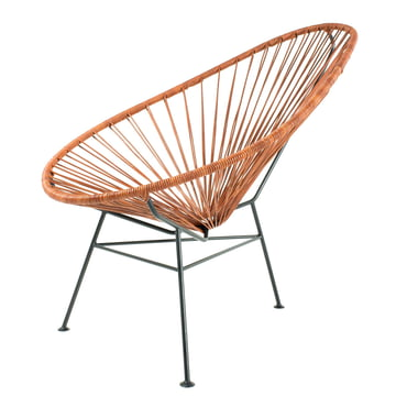 Acapulco Chair Leder von Acapulco Design in Cognac / Schwarz