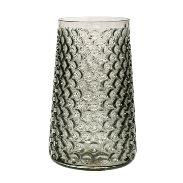 Die Bloomingville - Glas-Vase in smokey grey