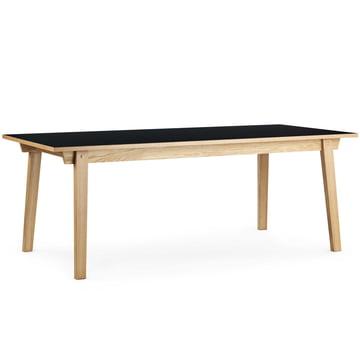 Normann Copenhagen - Slice Table Linoleum 90 x 250 cm, schwarz