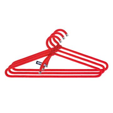 Loop Hanger Kleiderbügel 3er-Set von Peppermint Products in Rot