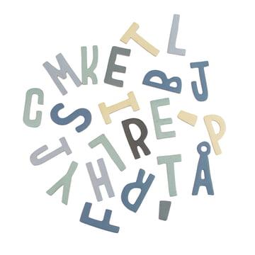 Magnetbuchstaben von Sebra in Blautönen