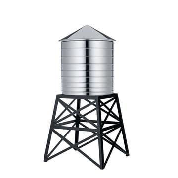 Water Tower von Officina Alessi in Edelstahl / Stahl schwarz lackiert