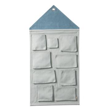 House Wandaufbewahrung von ferm Living in Dusty Blue