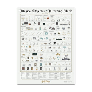 Magical Objects of the Wizarding World von Pop Chart Lab