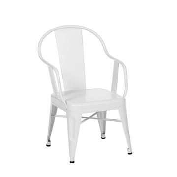 Möwe Armlehnstuhl von Tolix in Weiß matt