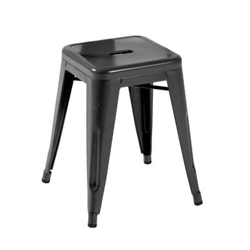 Tolix - H45 Hocker Indoor, schwarz matt