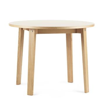 Slice Tisch Ø 95 x 74 cm von Normann Copenhagen in Creme