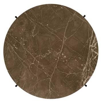Braune Marmorplatte des TS Couchtischs von Gubi