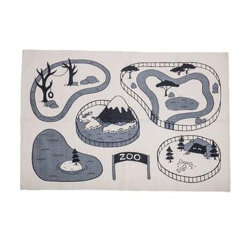 Spielteppich Zoo von Bloomingville in Beige/ Grau