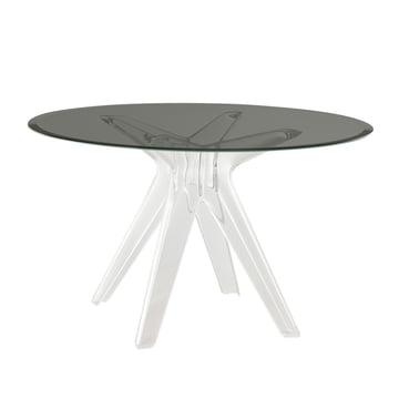 Sir Gio Tisch Ø 120 cm von Kartell in Weiß transparent / Fumé