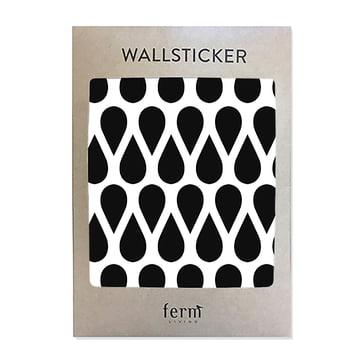 Mini Drops Wandsticker (44 Stck.) von ferm Living in Schwarz