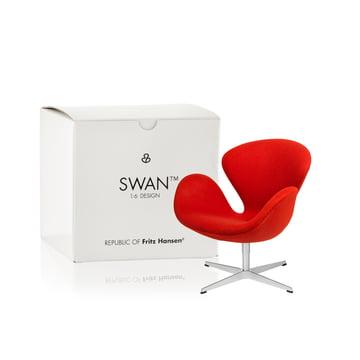 Fritz Hansen - Miniatur Schwan Sessel, rot