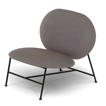 Der Northern - Oblong Lounge Chair, schwarz / Brusvik hellgrau (05)