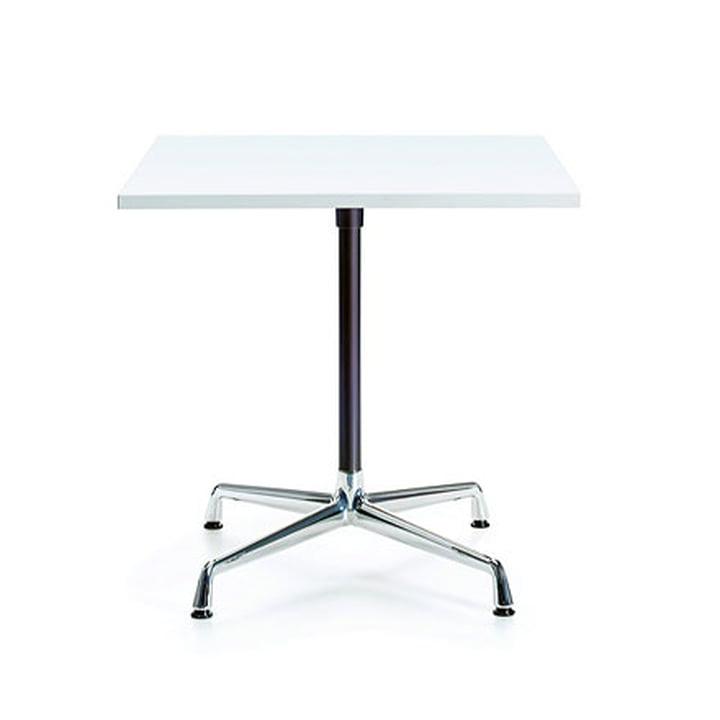Contract Table 75 x 75 cm von Vitra in Chrom / basic dark / weiß