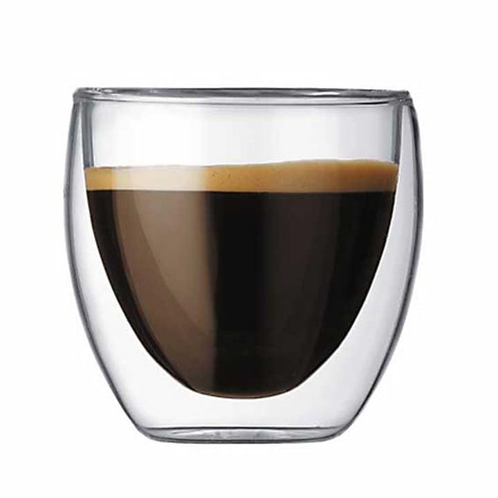 Pavina doppelwandiges Trinkglas 0.08 l (2er Set) von Bodum