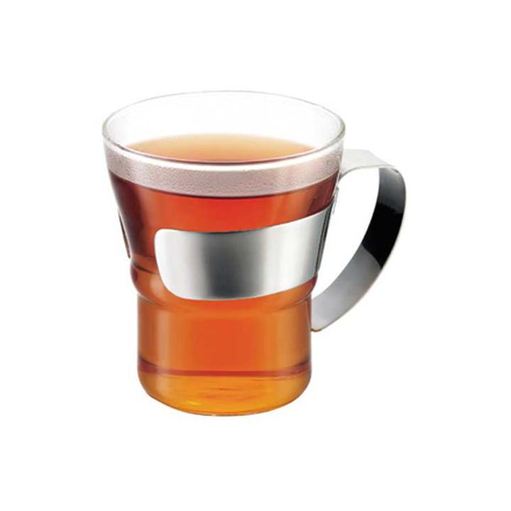 Bodum - Assam Teeglas mit Edelstahlgriff, mit Tee