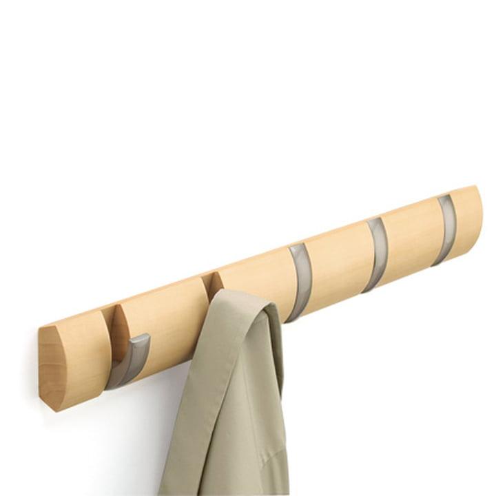 Umbra - Flip Hook 5er Garderobenleiste in Natur