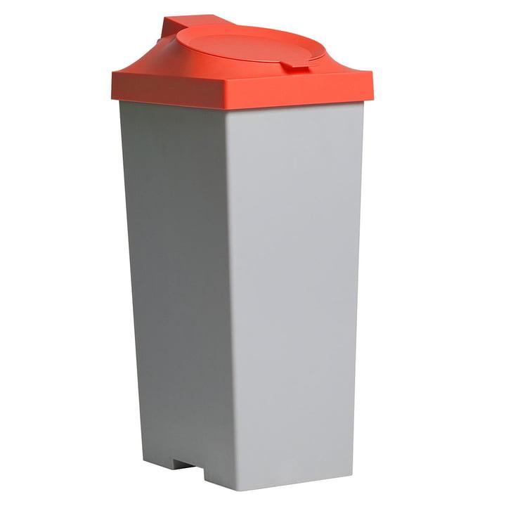 Top Kunststoffeimer - Deckel rot-orange