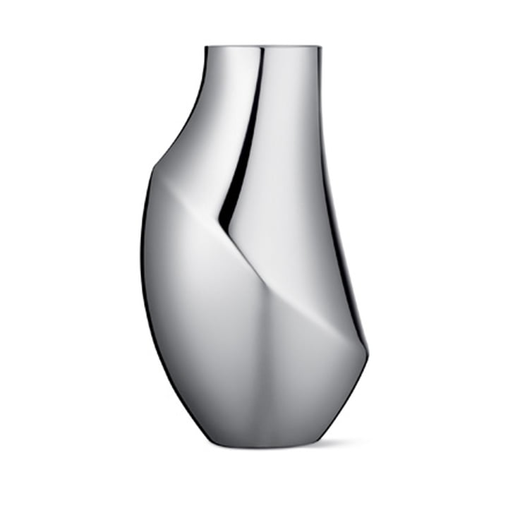 Georg Jensen - Flora Vase, Ø 13.6 x H 23 cm, Edelstahl