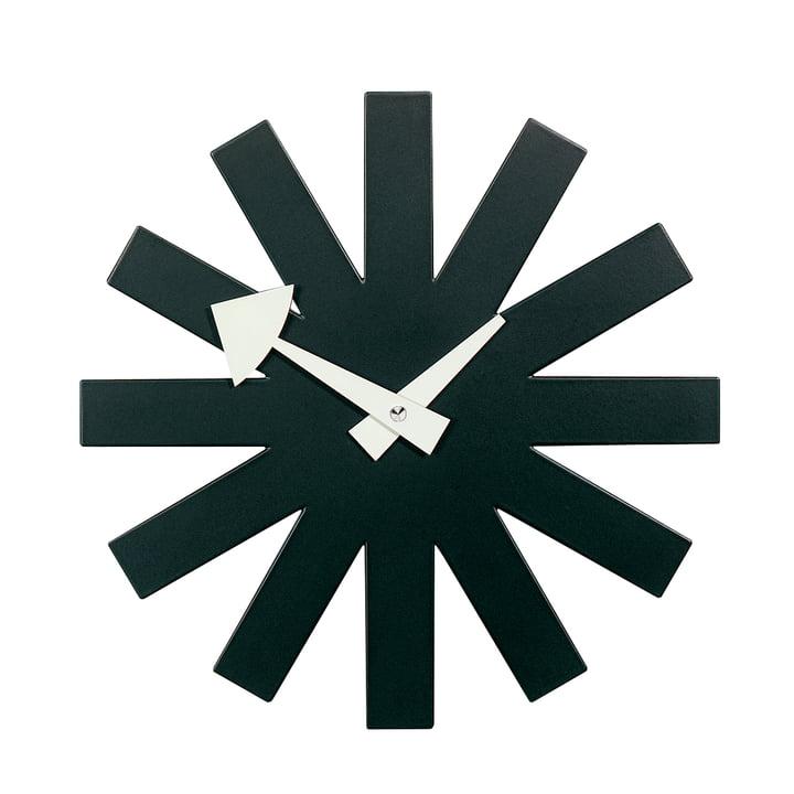 Asterisk Clock von Vitra in schwarz