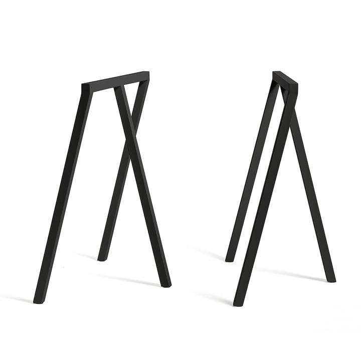 Loop Tischböcke Stand Frame von Hay in Schwarz (2 Stück)