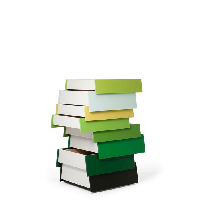 Das Stack Schubladensystem in grün von Established & Sons