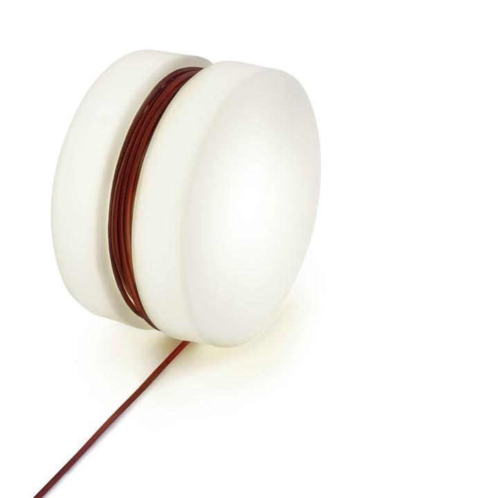 Yoyo Bodenleuchte Ø 47,5 cm von Depot4Design in weiß / rot
