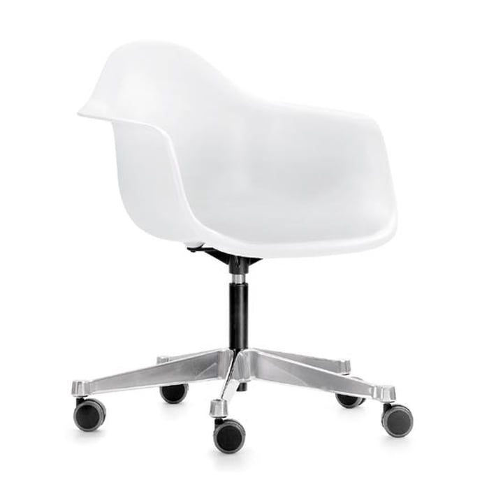 Eames Plastic Armchair PACC von Vitra in weiß