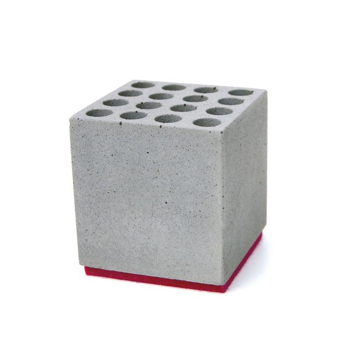 Korn Produkte - Stiftehalter Block, Filz: rot