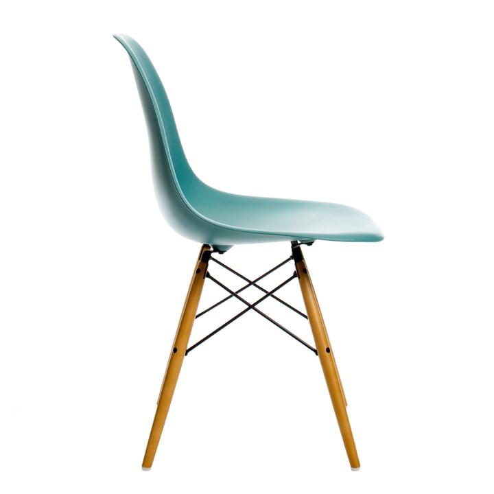 Vitra - Eames Plastic Side Chair DSW, Ahorn gelblich / ocean