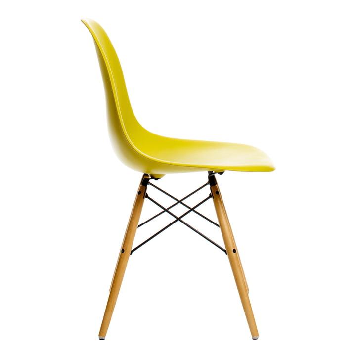Vitra - Eames Plastic Side Chair DSW, Ahorn gelblich / senf