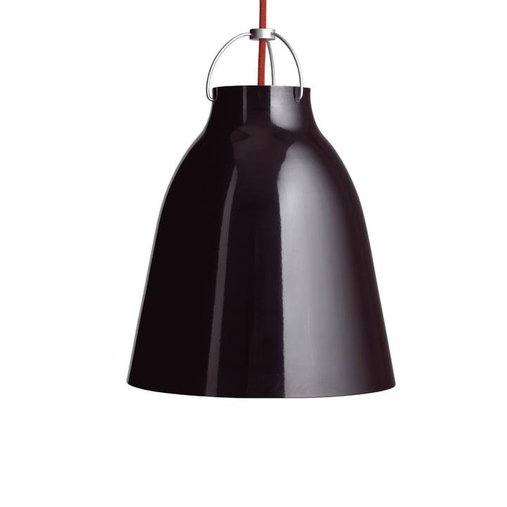 Caravaggio P2 Pendelleuchte von Fritz Hansen in glänzend Schwarz