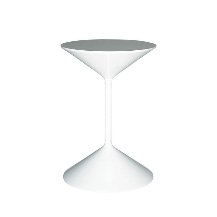 Tempo Beistelltisch H 36 cm von Zanotta in weiß