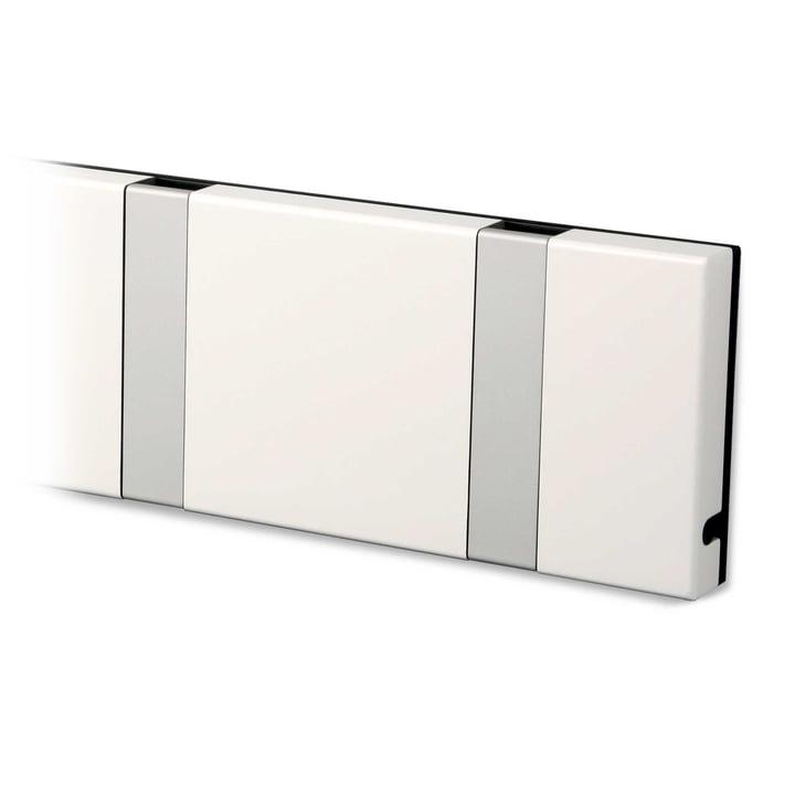 Knax Garderobenleiste von LoCa in weiß / grau