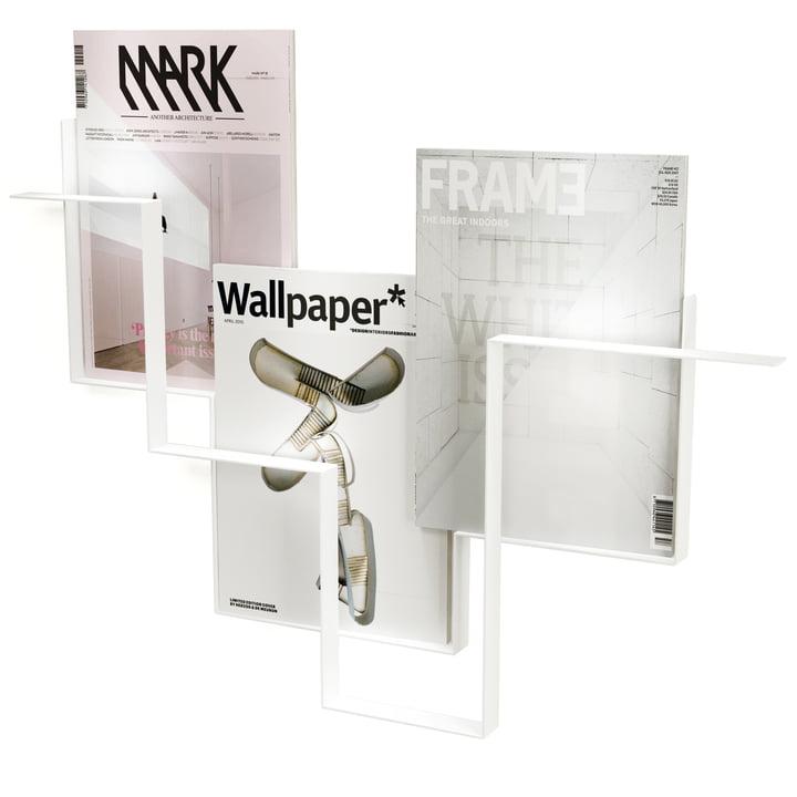 Frederik Roijé - Guidelines Zeitschriftenhalter in Weiß