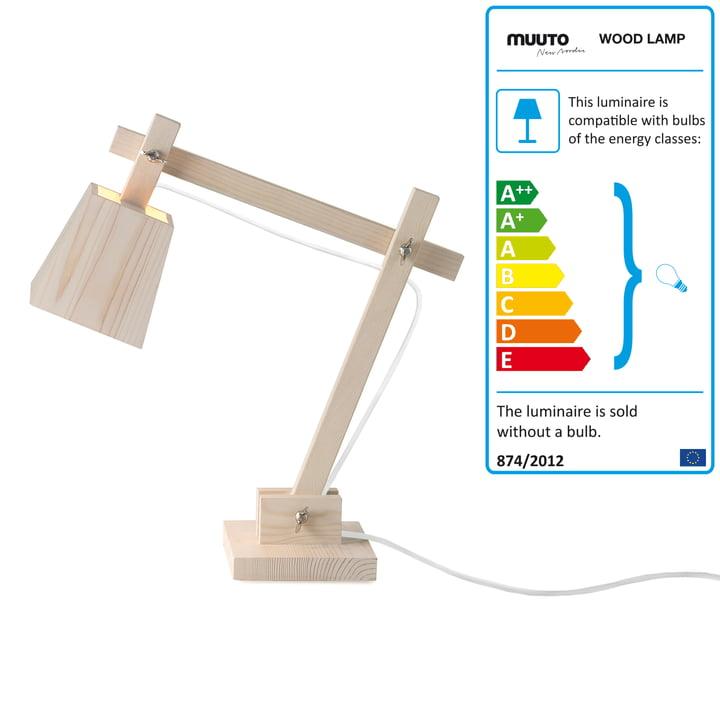 Muuto - Wood Lamp, Kabel weiß
