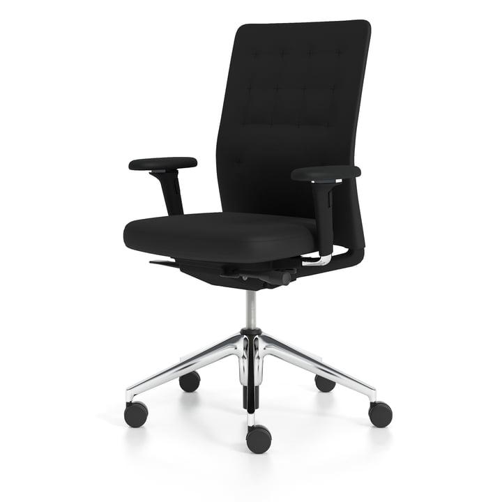 ID Stuhl Trim von Vitra in Nero / Aluminium poliert