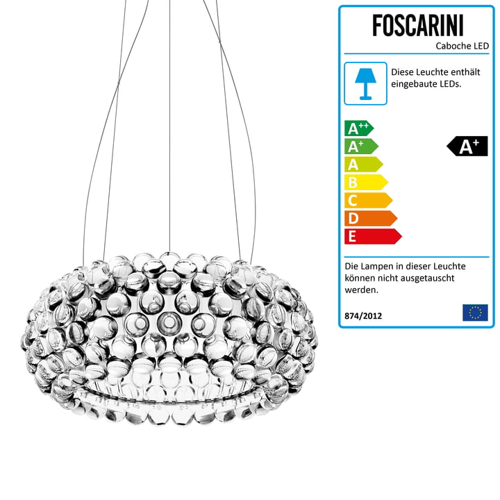 Foscarini - Caboche media MyLight LED-Pendelleuchte, transparent (dimmbar)