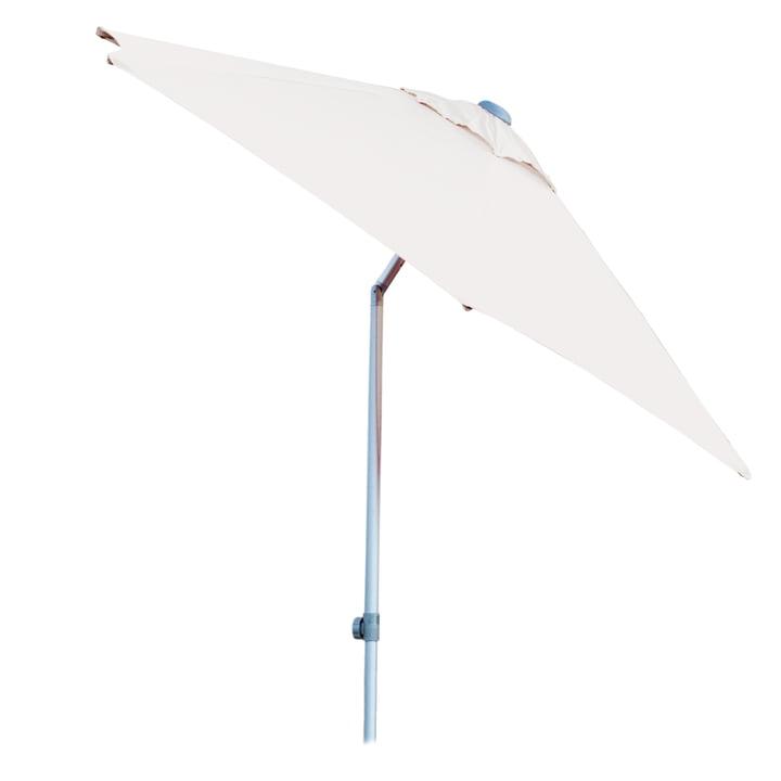 Runder Elba Sonnenschirm von Jan Kurtz in Weiß