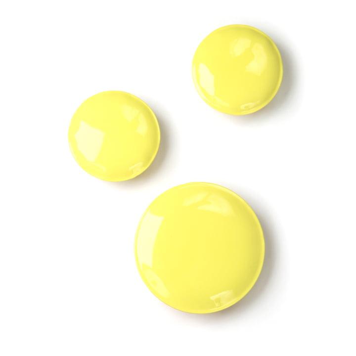 Zieta - Pin Wandhaken, 3er-Set, gelb