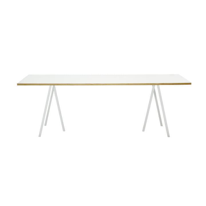 Hay Loop Stand Tisch, 160, weiß